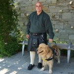 j brown and shep 1 - Service Dogs in Action