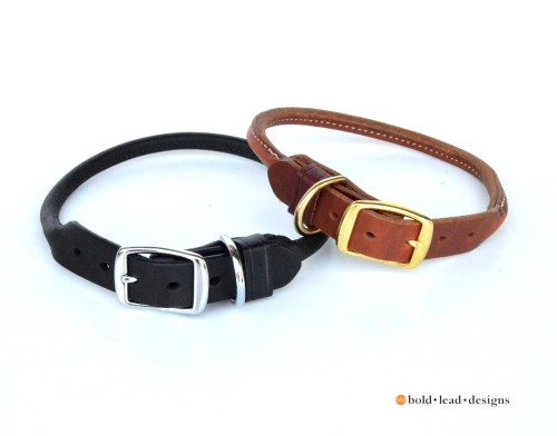 BLD's Rolled Leather Dog Collar