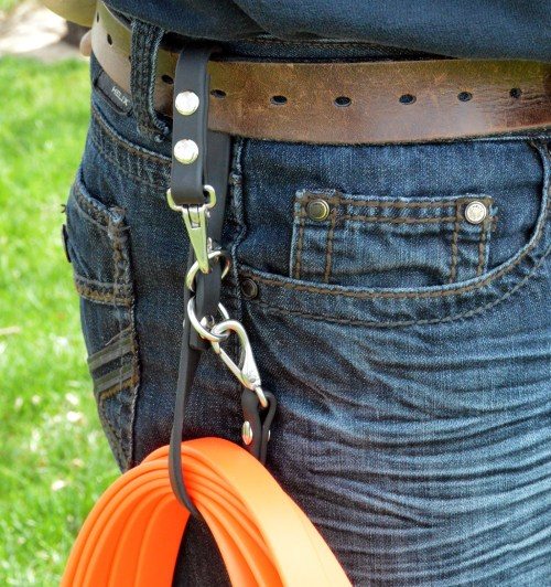 Leash Caddy™ -  carry your long line on your belt - utility organizer