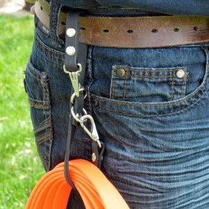 leash caddy belt loop 2670 - Leash Caddy™ -  carry your long line on your belt - utility organizer