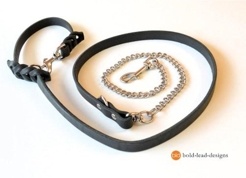 Chain and Brahma 8-Way Lead™ - chew resistant Multi-Functional vegan dog leash