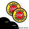 LW NEED SPACE please stop - STOP Sign Leash Wraps