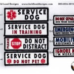Velcro Service Dog Patch designs by BLD 150x150 - Everyday Working Harness