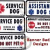 2018 banner badge patch designs - Banner Badge for Service Dogs (2-sided handle sign)