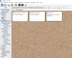 A very bare-bones cork-board for my planned adventures.