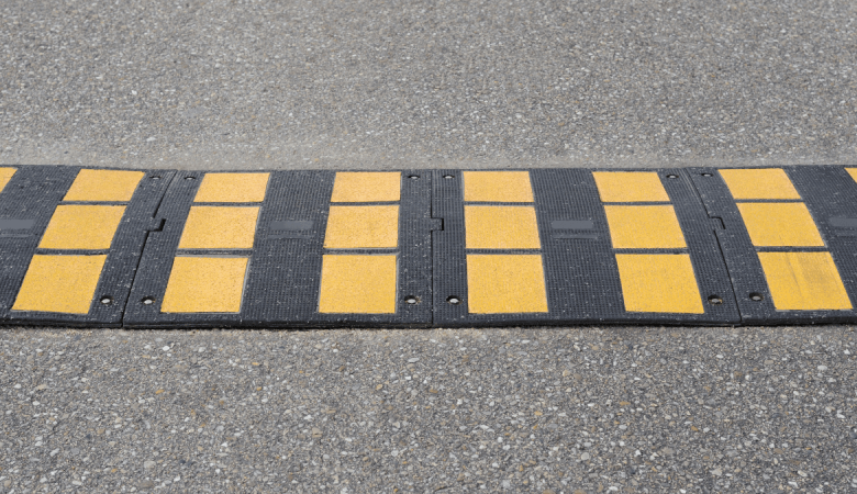 speed bump in road