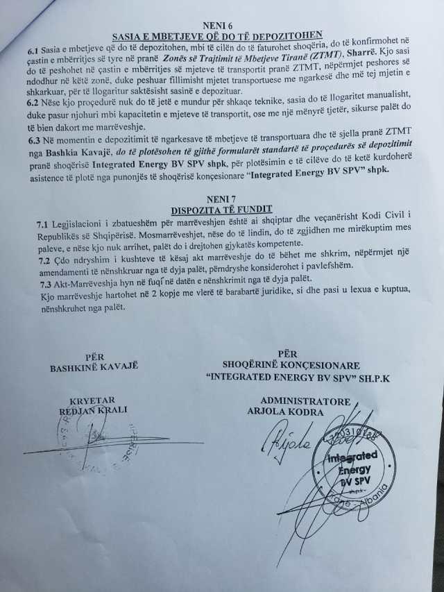Faksimile: Dokumentin e ka firmosur Krajli dhe Kodra