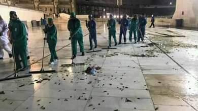 Photo of جهود مكثفة في الحرم المكي  للتخلص من الحشرات المنتشرة في الساحات المحيطة بالمسجد الحرام