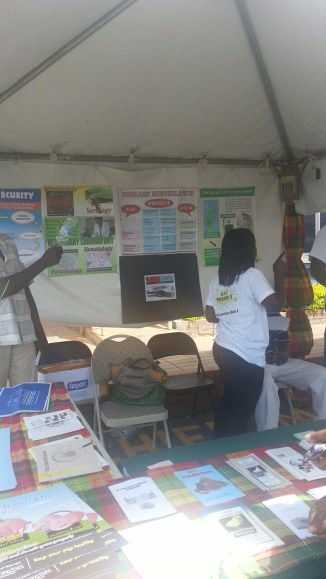 Ministry of Agriculture tent educating the public about breaking the chain of infectious diseases and animal care