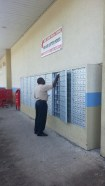 Post office boxes are around town near city hubs like the mall, grocery stores, etc. Not a post office!
