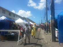 On Saturday the road is blocked for vendors from around the island to come and sell their goods.