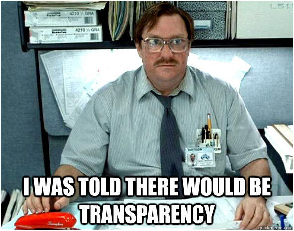 The Need For Transparency…