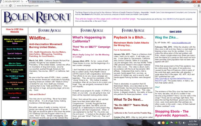 The old Bolen Report was built on a Front Page Windows platform