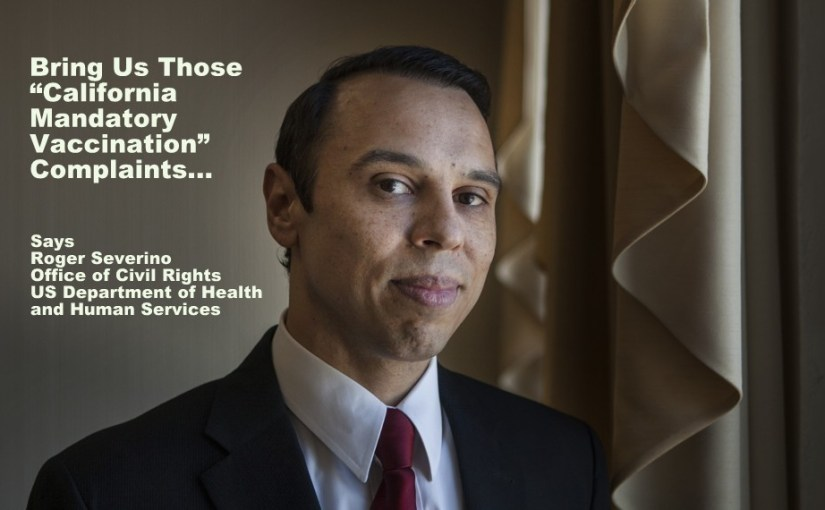Severino at Health and Human Services (DHHS-OCR) WANTS You To Complain About Vaccine Mandates!