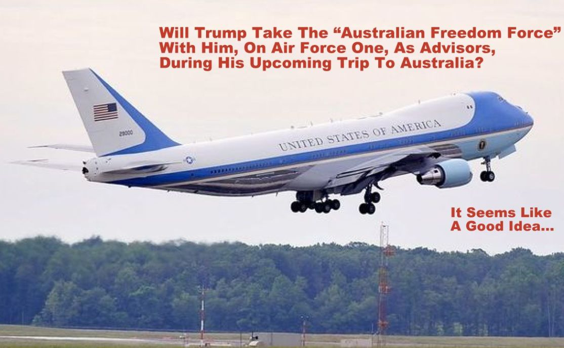 """Australian Freedom Force"" on Air Force One?"