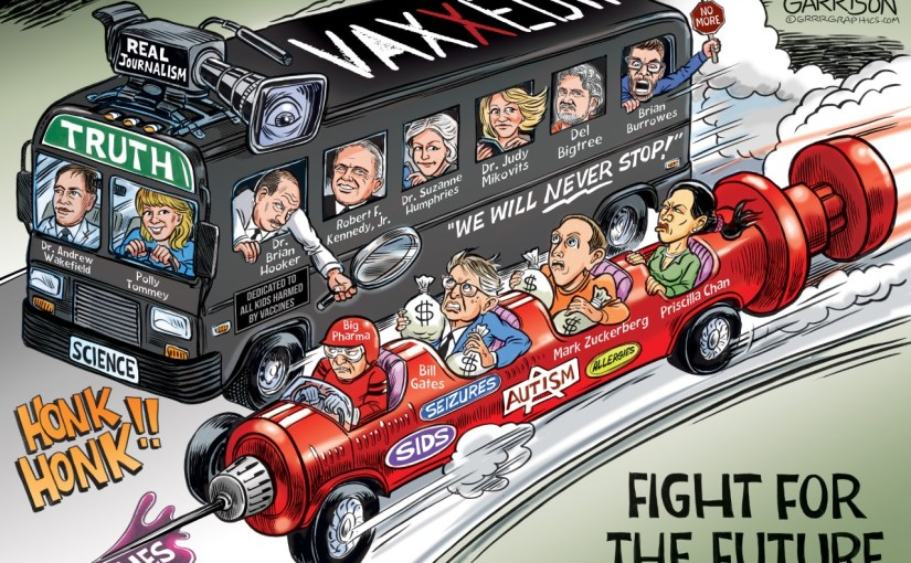 """VAXXED II"" – Cartoonist Ben Garrison Jumps On The Bus…"