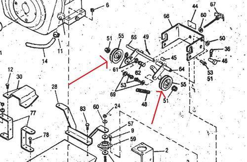 Bolens Parts :: Idler Pullies :: Bolens 1726660 Idler
