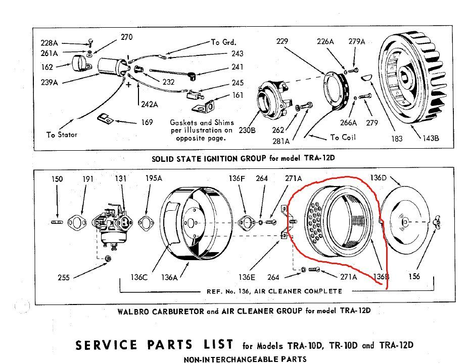 Wisconsin Engine Parts :: LO194A Wisconsin Engine Air