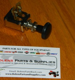 bolens parts ignition switches stop switches and lighting sears suburban garden tractor push pull light switch new bolens tubeframe light switch  [ 2048 x 1536 Pixel ]