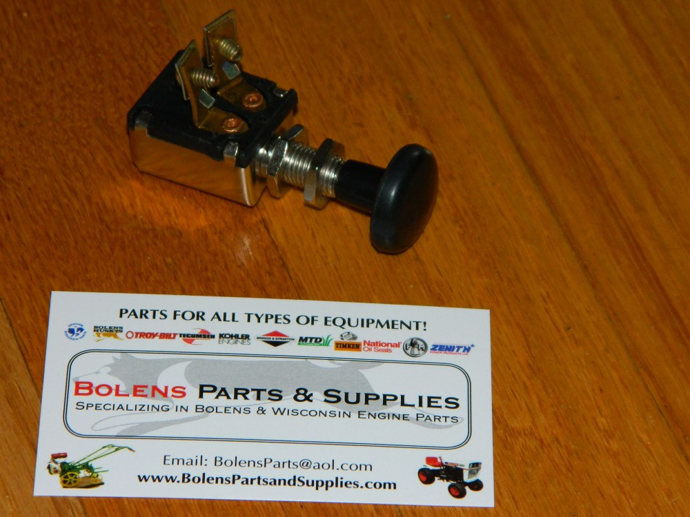 medium resolution of bolens parts ignition switches stop switches and lighting sears suburban garden tractor push pull light switch new bolens tubeframe light switch