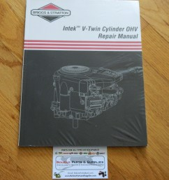briggs stratton new briggs stratton intek v twin ohv repair manual genuine manual not reprint 273521 [ 2048 x 1536 Pixel ]