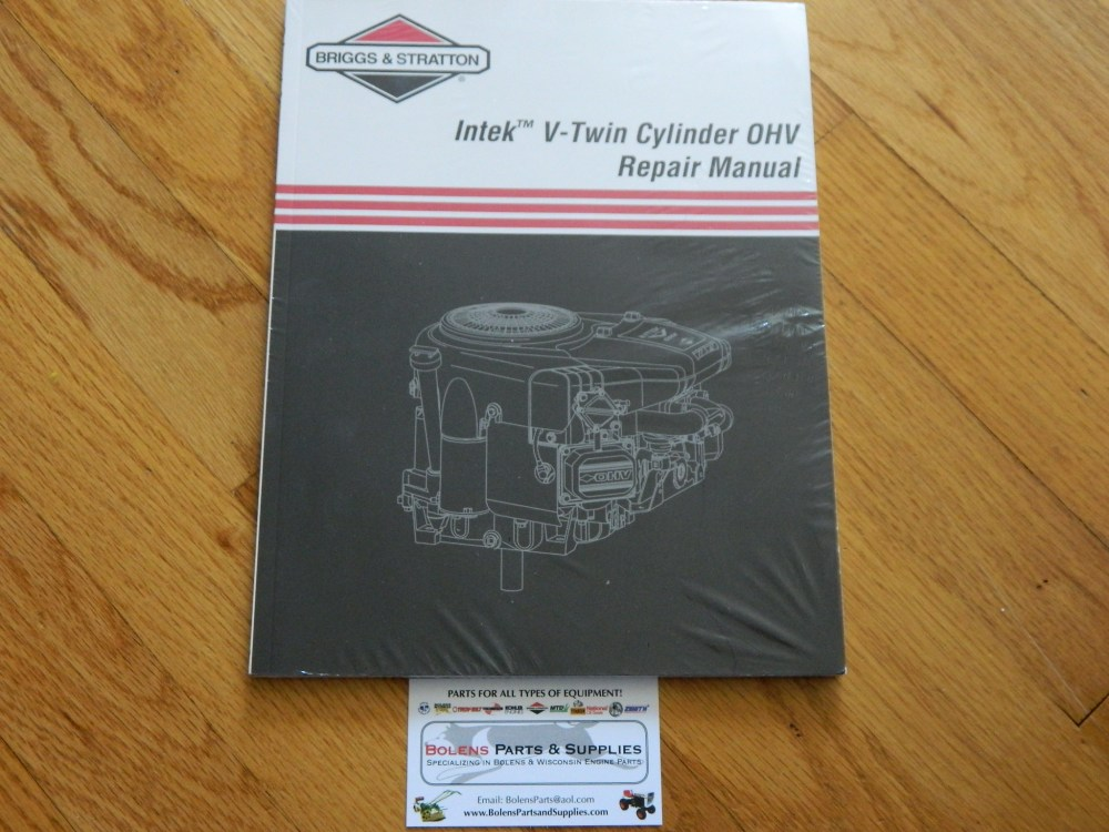 medium resolution of briggs stratton new briggs stratton intek v twin ohv repair manual genuine manual not reprint 273521