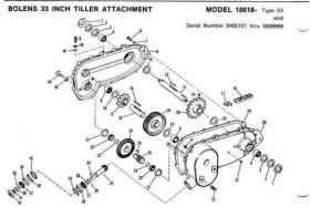 Bolens Parts :: Bolens Tiller tine shaft Oil Seal 1185629