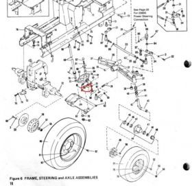 Bolens Parts :: Bolens HT23 Steering shaft bearing 1185007