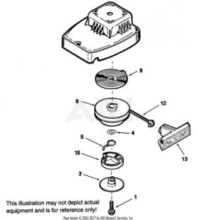 TECUMSEH :: OEM Tecumseh recoil repair kit for SOME 2