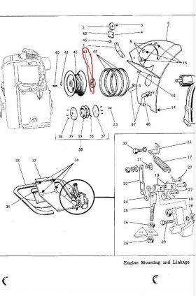 Bolens Parts :: Bolens Ridemaster Transmission Bearing