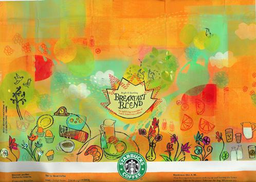 Starbucks Breakfast Blend Bag Art