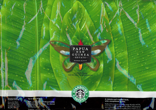 Starbucks Papua New Guinea Estate Bag Art