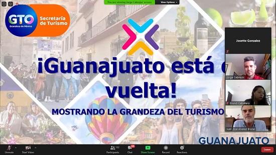 Como alianza estratégica la Secretaría de Turismo de Guanajuato, a través de la Dirección de Mercadotecnia, mostró virtualmente la oferta turística de la entidad a 133 agentes de viajes de Price Travel.