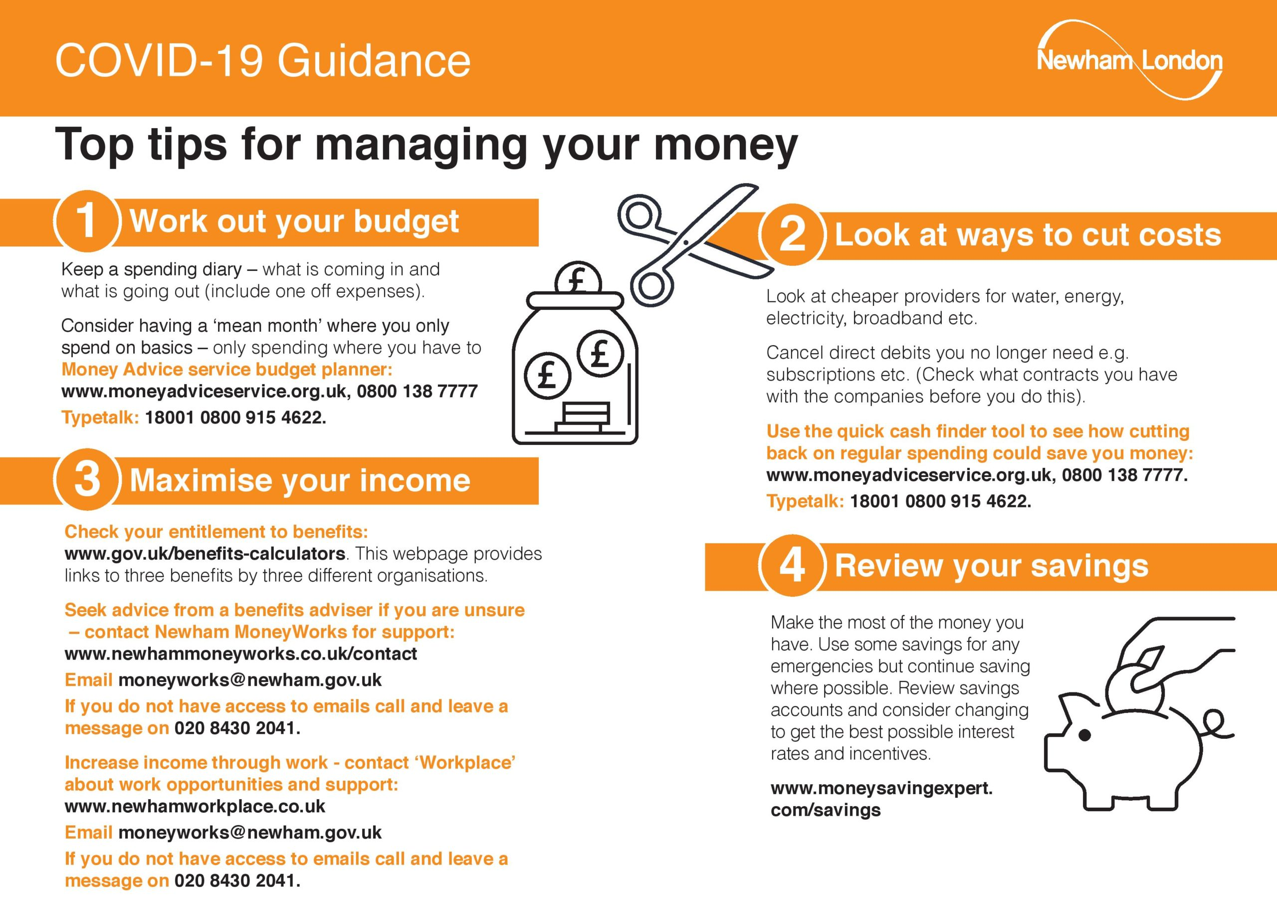 Top Tips For Managing Your Money Page 001
