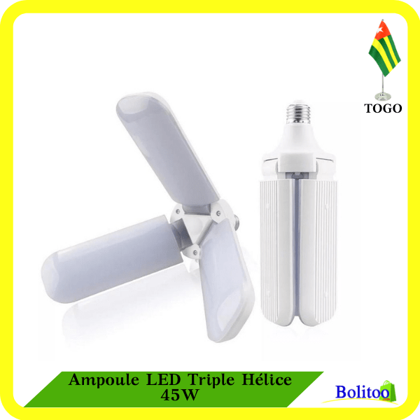 Ampoule LED Triple Hélice 45W
