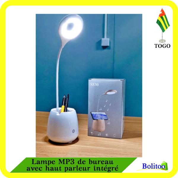 Lampe MP3 de bureau avec haut parleur intégré
