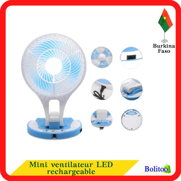 Mini Ventilateur LED Rechargeable
