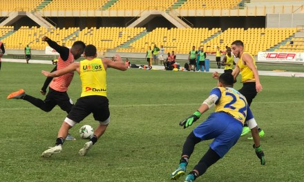 Real Cartagena entrenó en el Jaime Morón pensando en Bogotá