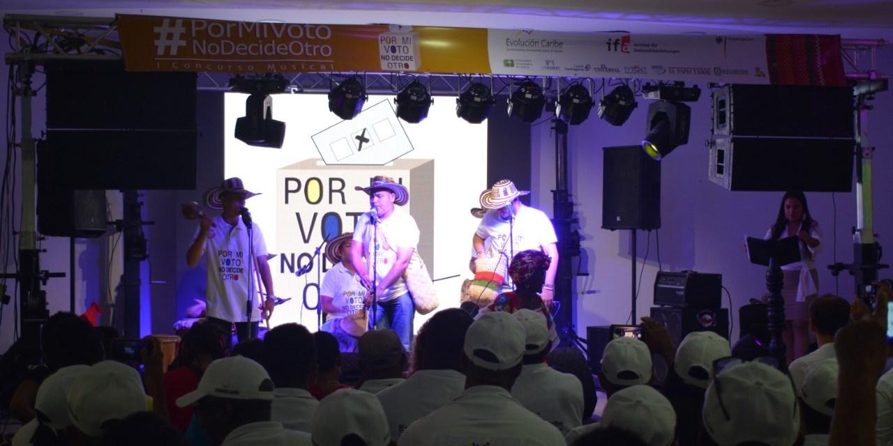 Ganadores del concurso musical #PorMiVotoNoDecideOtro