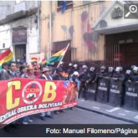 Strike, marches in Bolivia against Morales' government