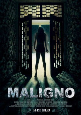 Poster of Maligno 2016 HDRip 720p Dual Audio In Hindi Spanish