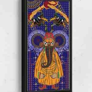Tamir Long Vertical Matte Framed Canvas Wall Art