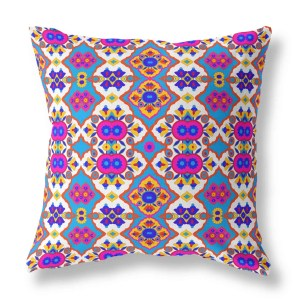 Flower Opal Cross Indoor Throw Pillow