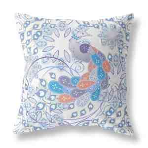 Summer Angel Peacock Indoor Throw Pillow