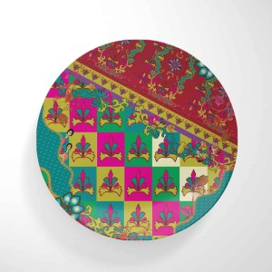 Knights on Pattern with Border Dinnerware Plate