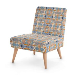 Ganesh Inspired Orange Occasional Chair