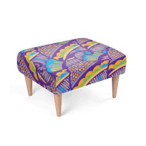 Henna Flower Footstool