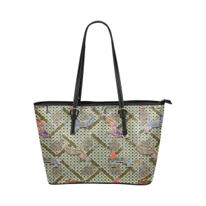 Horse Print Leather Tote Bag