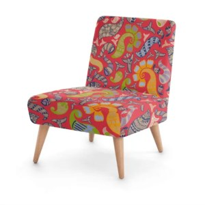 Multi Henna Occasional Chair