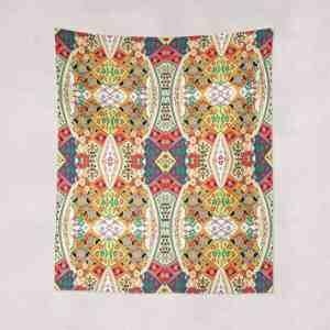 Window Flower Indoor Hemmed Tapestry